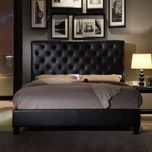 USA Club Tufted Dark Brown Faux Leather Queen-size Platform Bed  http://www.furnituressale.com/usa-club-tufted-dark-brown-faux-leather-queen-size-platform-bed/