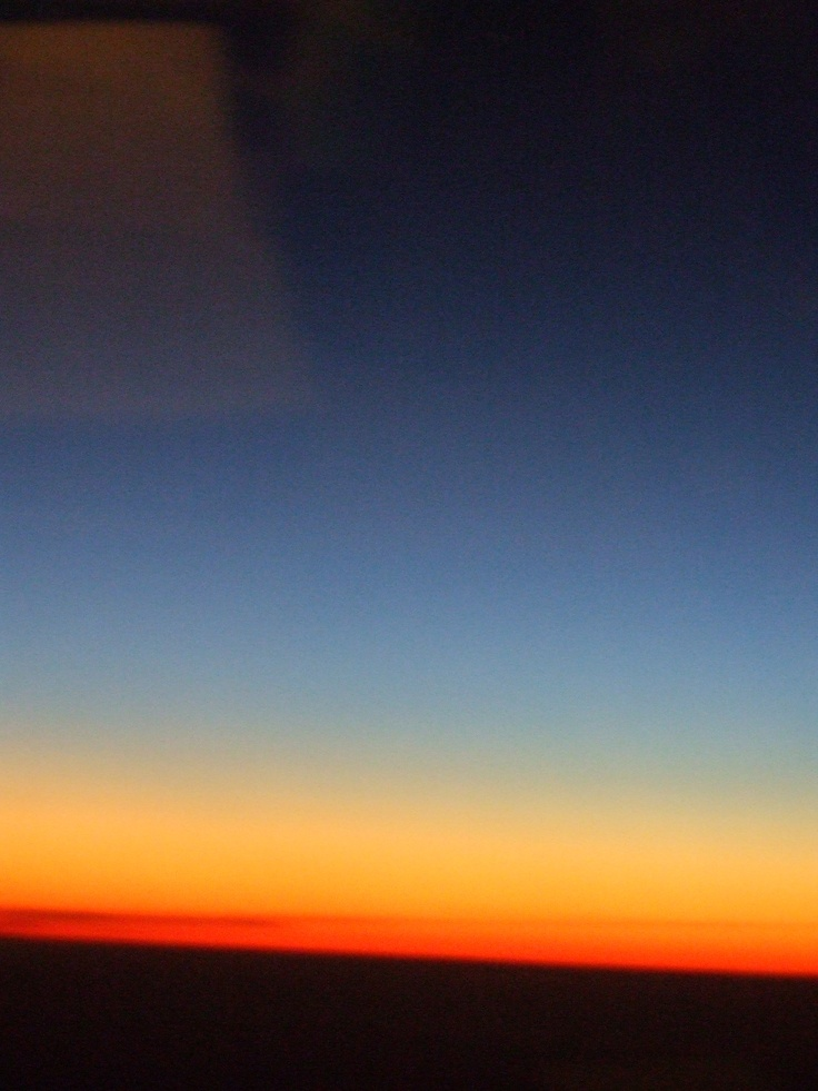 Beautiful sunset flying to Fiji.