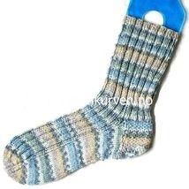 Håndstrikkede sokker, str 40-42. Strikket i Opal.