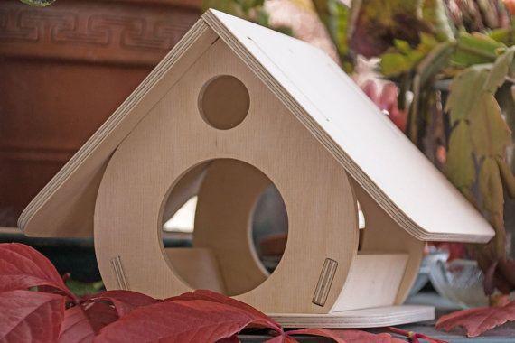 Vogelhaus Futterhäuschen KOBOLD von woodeu auf Etsy