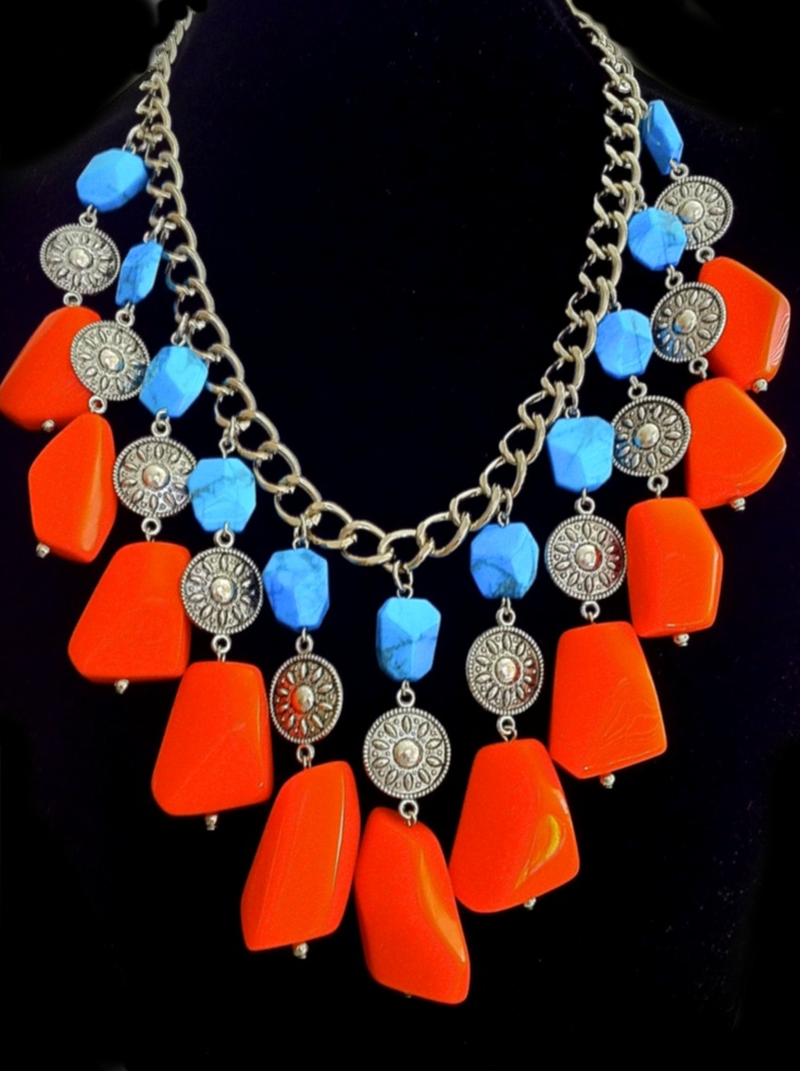 Howlite & resin necklace - Summer 2013