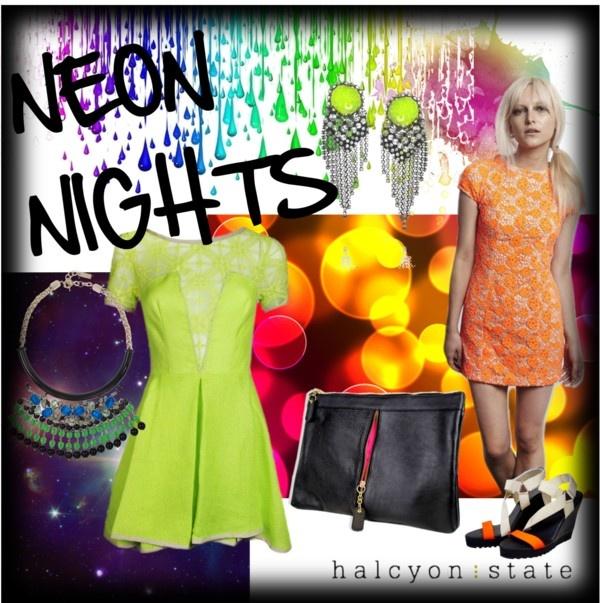 """Neon Nights"" by halcyonstatedotcom on Polyvore"