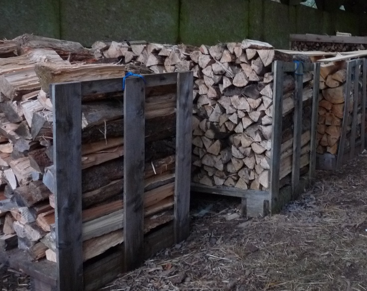 Pallets of firewood, locally sourced timber processed on site