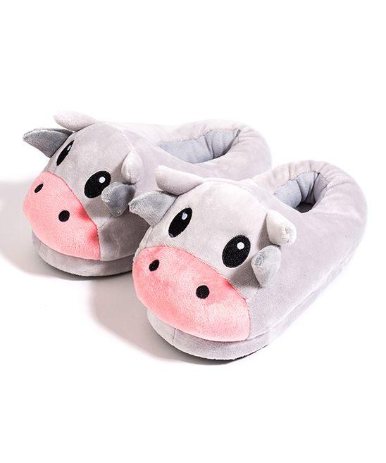 Cow Emoji Medium Slippers