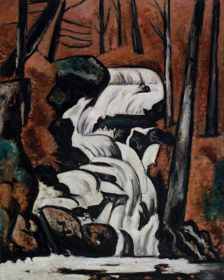 """Closing June 18, """"Marsden Hartley's Maine"""" at The Met Breuer explores the artist's visually arresting relationship with his home state. Maine served as an essential slate upon which he pursued new ideas and theories. """"Marsden Hartley's Maine"""" is co-organized with the Colby College Museum of Art, where the exhibition will be featured from July 8 through November 12, 2017. Marsden Hartley (American, 1877–1943). Smelt Brook Falls, 1937. Saint Louis Art Museum, Eliza McMillan Trust. #TheMet…"""