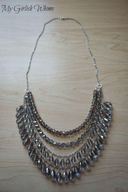 DIY Silver Sparkle Necklace