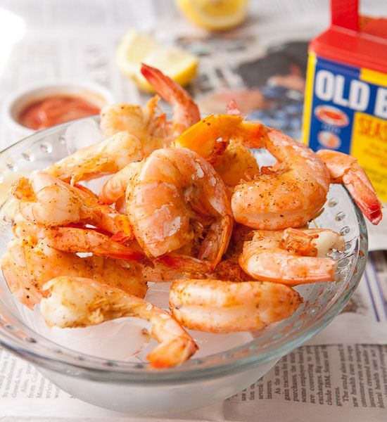 The key to cooking perfect shrimp is to steam them rather than boil them. They end up being tender and flavorful without being overcooked or watered down. Give it a shot!