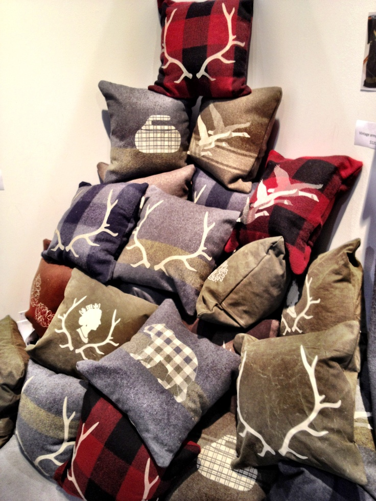 Great wool pillows made from old army blankets