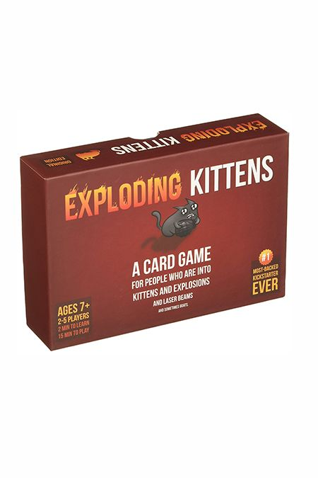 Exploding Kittens Card Game - $20 - If he loves Cards Against Humanity, he'll gladly welcome this new card game to the mix. Think of it as a feline-inspired Russian Roulette. Each player draws a card until someone picks an Exploding Kitten.