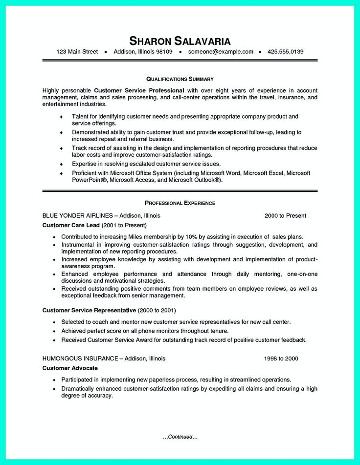 The 25+ best Customer service resume ideas on Pinterest Customer - poor resume examples