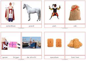 Fotowoordkaarten thema Sinterklaas - juf Sanne