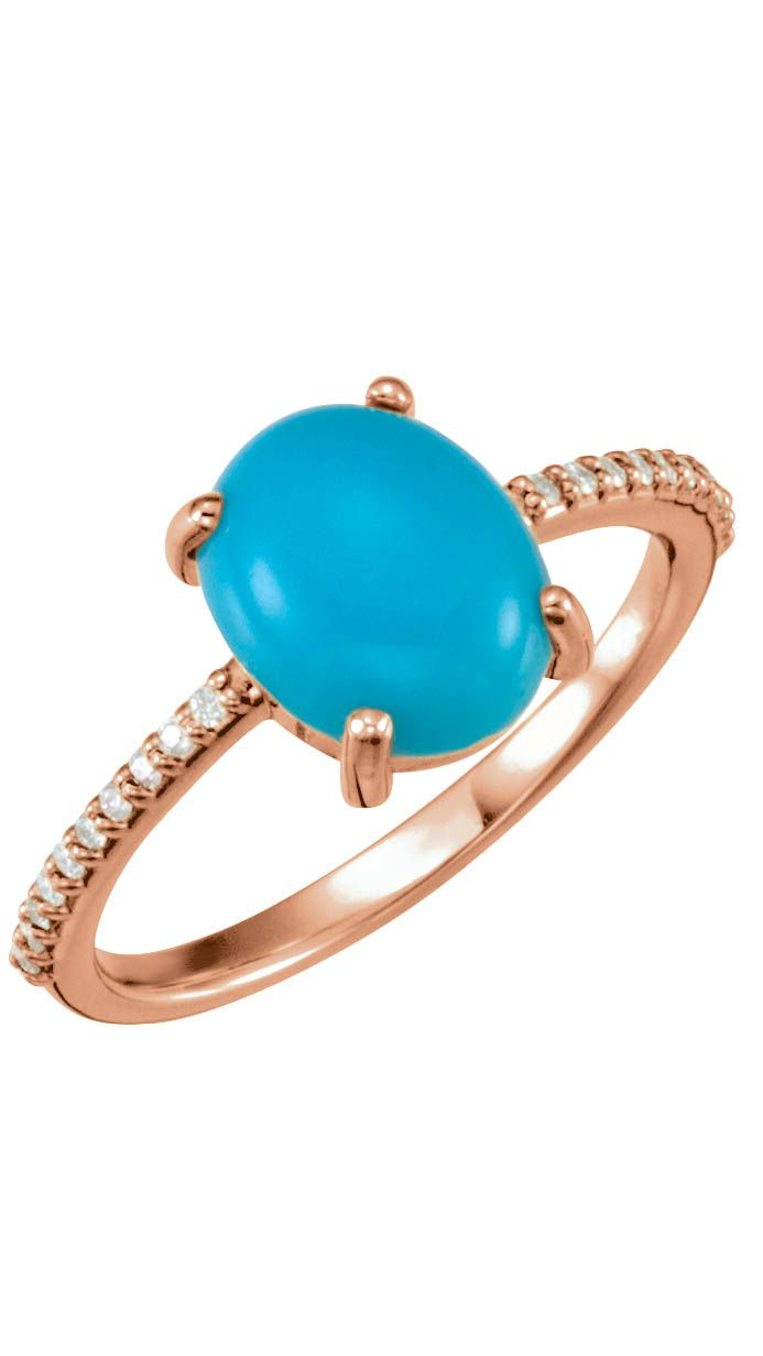 Celebrate December Birthdays with this Turquoise Cabachon Ring. Click through for product details OR to locate a jeweler near you!