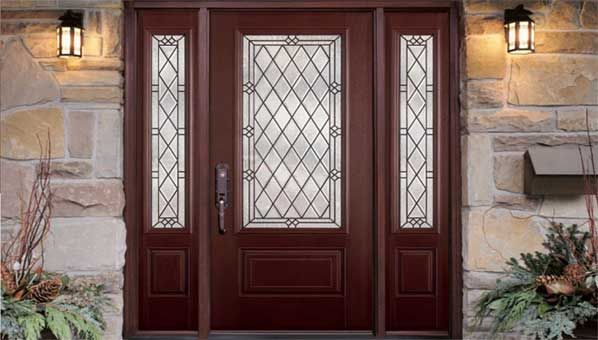 Best 25 entry door with sidelights ideas on pinterest - Steel vs fiberglass exterior door ...