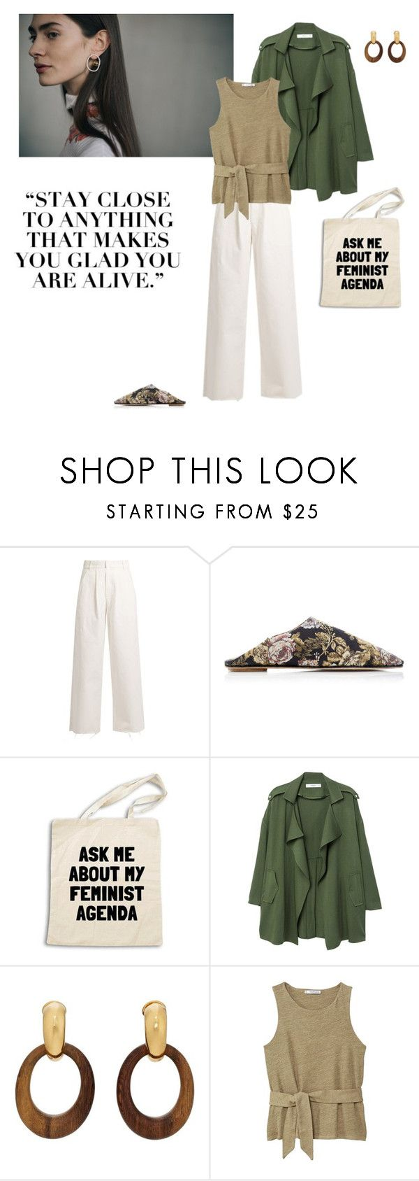"""11/03"" by dorey on Polyvore featuring Raey, MANGO, Goossens, natural, SpringStyle, spring2018 and minimaliam"