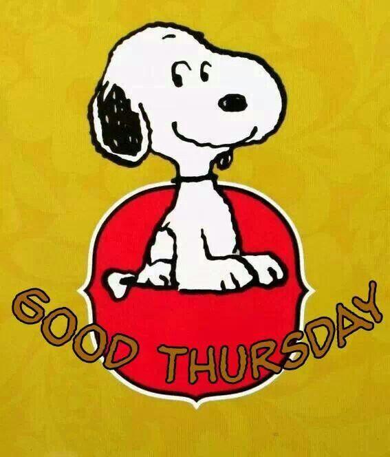 Good Thursday. Good Snoopy.