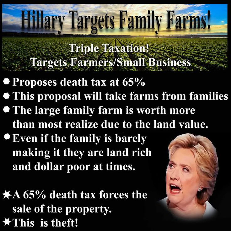 MOSTLY FALSE: Clinton is indeed calling for a65% tax rate, but this ONLY applies to the LARGEST estates— those valued at MORE than $1 BILLION PER COUPLE. That would probably include very few, IF ANY, family farms.