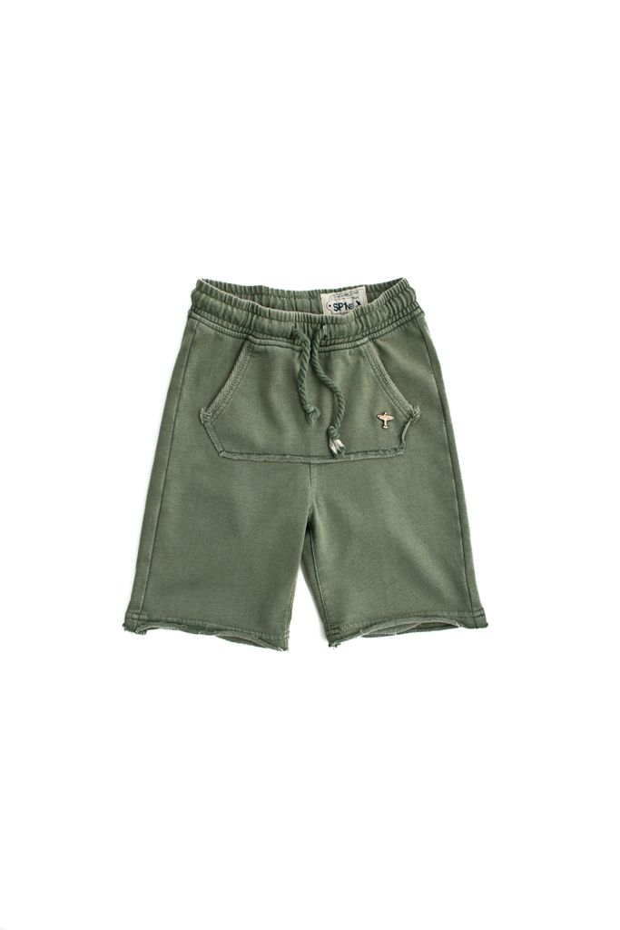 short in felpa SP1NE 3150753 verde militare