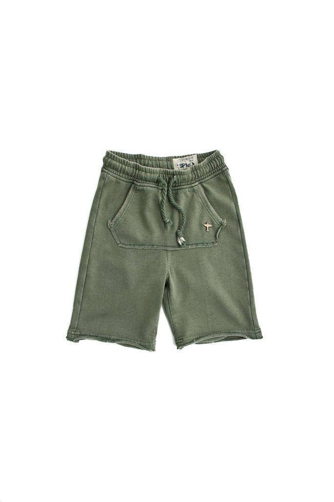 short in felpa SP1NE 3150753 verde militare