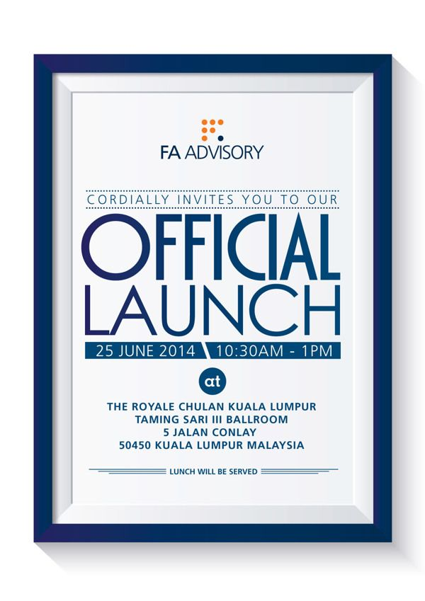 Official Launch Invite on Behance