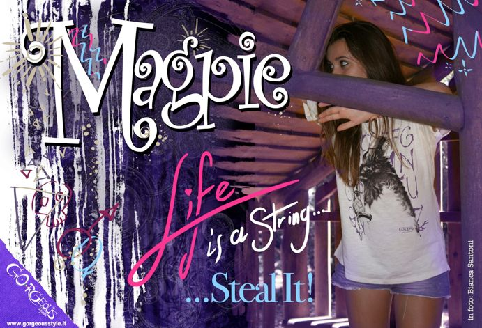 Steam Animals (GORGEOUS style) T-shirt unisex: MAGPIE (read description on website to know more about your right archetype)