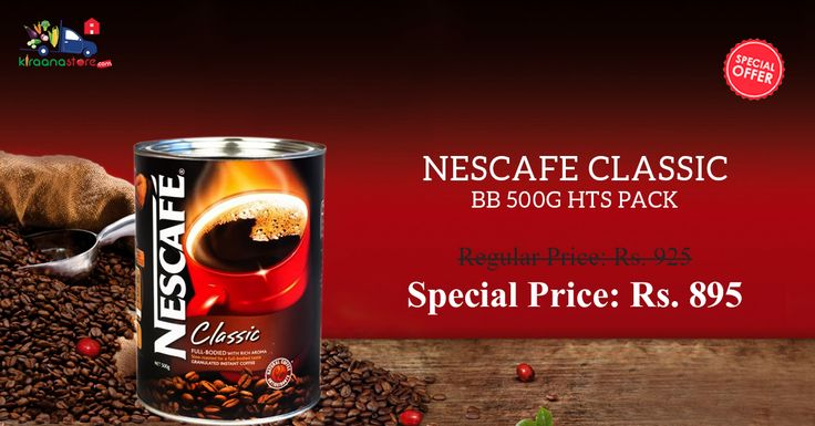 You Can Buy Online Nescafe Classic BB 500 G HTS Pack Only Just Rs.895 at Kiraanastore.