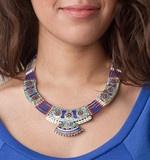 Tibetan Designer Lapis Turquoise Coral Necklace