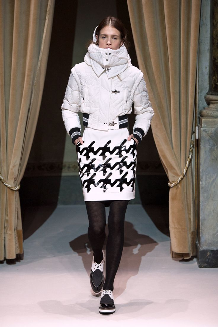 Look 7 from Fay Women's Fall - Winter 2014/15 collection seen on the catwalk.