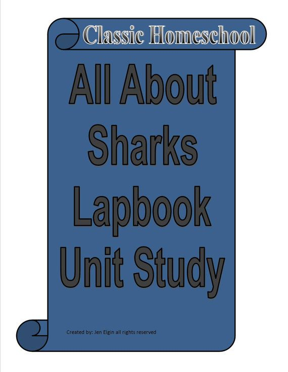 Shark Lapbook Unit Study for learning all about Sharks  - Biology - Zoology - Multi-age range