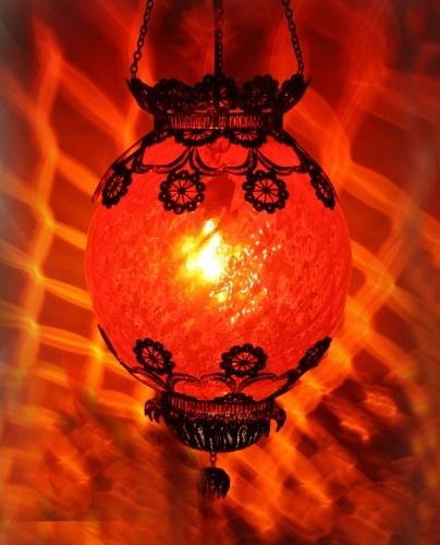 Kırmızı Klasik Otantik Sarkıt 46cm #ottoman #osmanli #lighting #aydinlatma