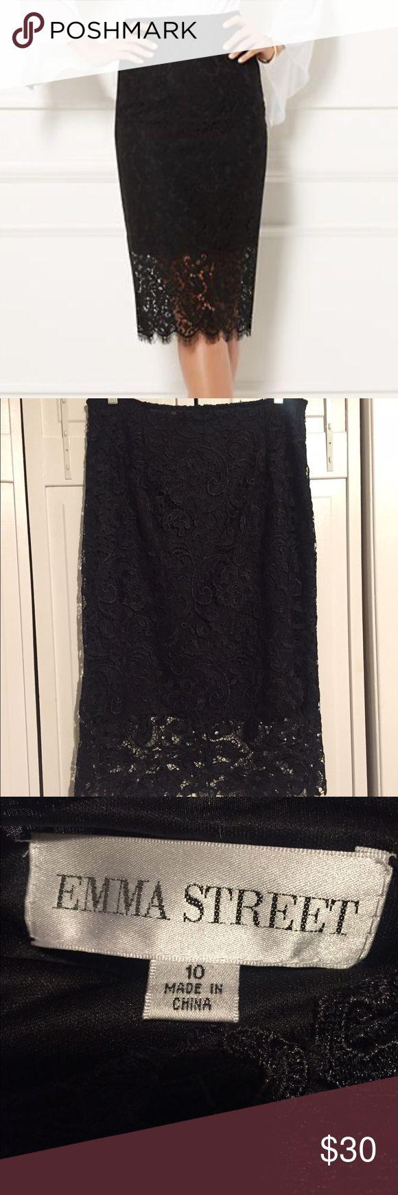 Emma street lace pencil skirt Emma street lace pencil skirt brand new never worn Skirts Midi