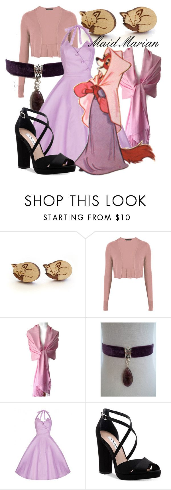 """Maid Marian (A Disney-Inspired Outfit)"" by one-little-spark ❤ liked on Polyvore featuring Nina, disney and disneybound"