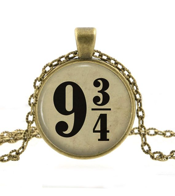 Harry Potter Necklace - Harry Potter Jewelry - Platform 9 3/4 Pendant - Hogwarts Express Gifts for Her on Etsy, $12.95