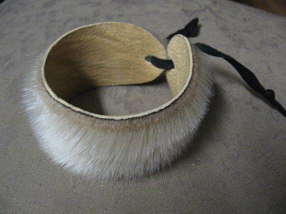 Seal Fur Cuff Bracelet Fits all by lamaritimer on Etsy, $20.00