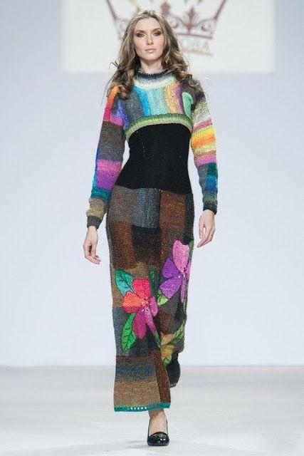 Beautiful handknit dresses by Anna Lesnikova