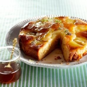 Omgekeerde appel-honingtaart met tijm | Smaakmakend | biologisch | recepten | eten | food | bionext