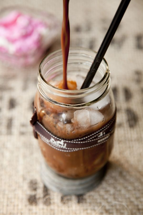 Iced Malted Cherry Coffee