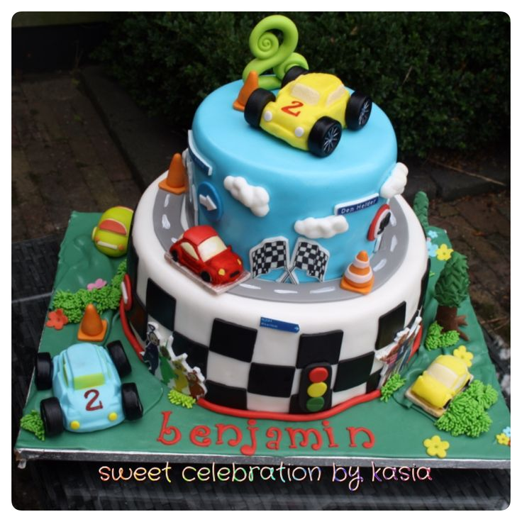 Cars cake - prepared for my son's 2nd birthday Sweet Celebration