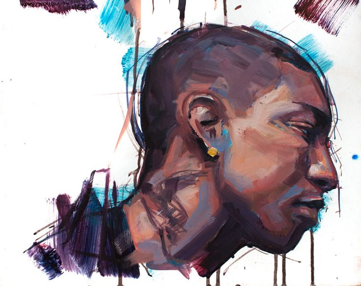 Pharrell Williams. Oil on Board. Jamel Akib. www.jamelakib.com
