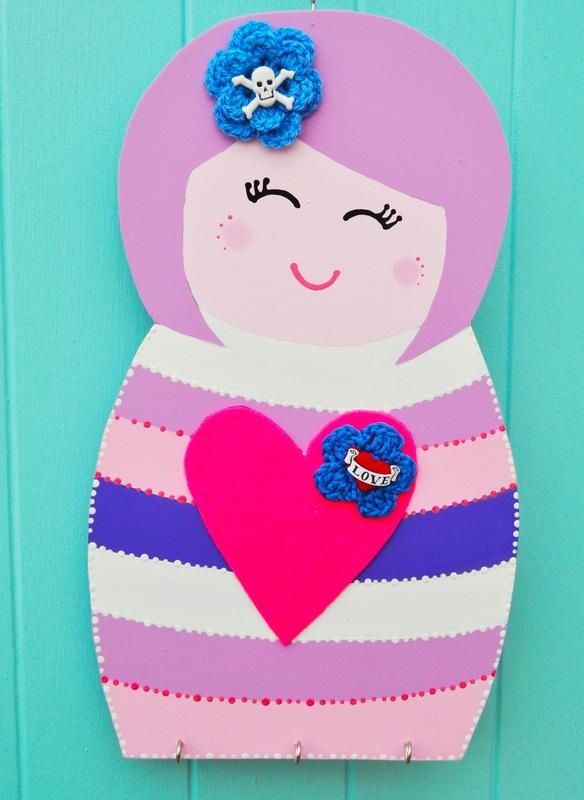 Kokeshi doll wall hanging  #crafts
