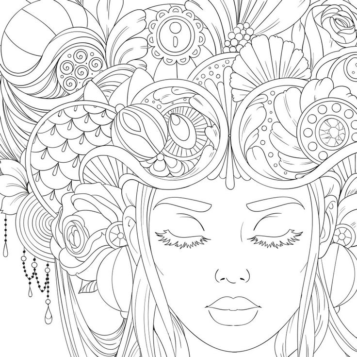10 PDF Coloring Pages Flower Collection Paisley
