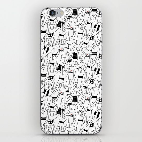 Skins are thin, easy-to-remove, vinyl decals for customizing your device. Skins are made from a patented material that eliminates air bubbles and wrinkles for easy application. #music #love #rock #concert #crowd #mia #society6 #iPhone #Skin