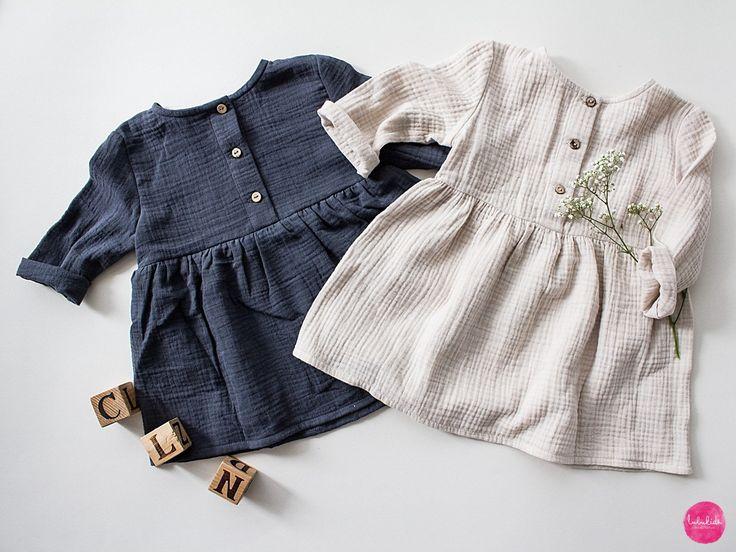 baby girl dress muslin dress organic cotton musselin kleid