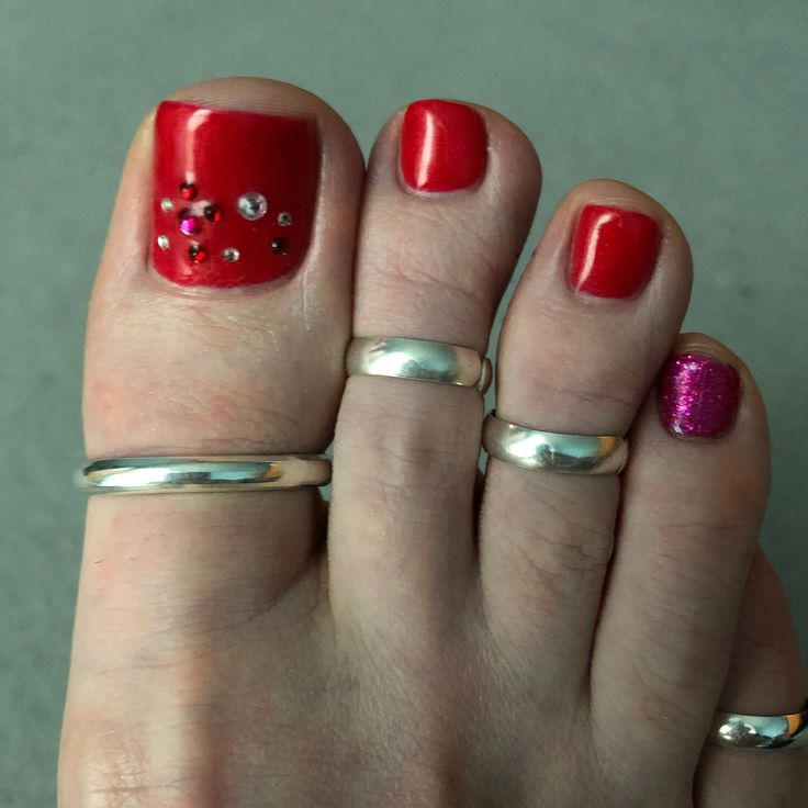 Big toe ring silver 4mm plain band adjustable sterling