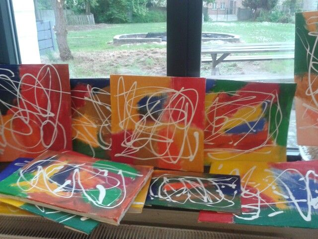 "thema""Kunst"" on my mini canvas to display!"