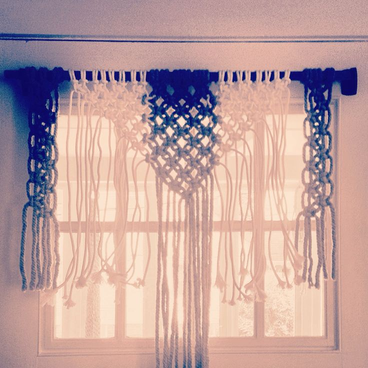 Macrame curtain. For Sale. $40