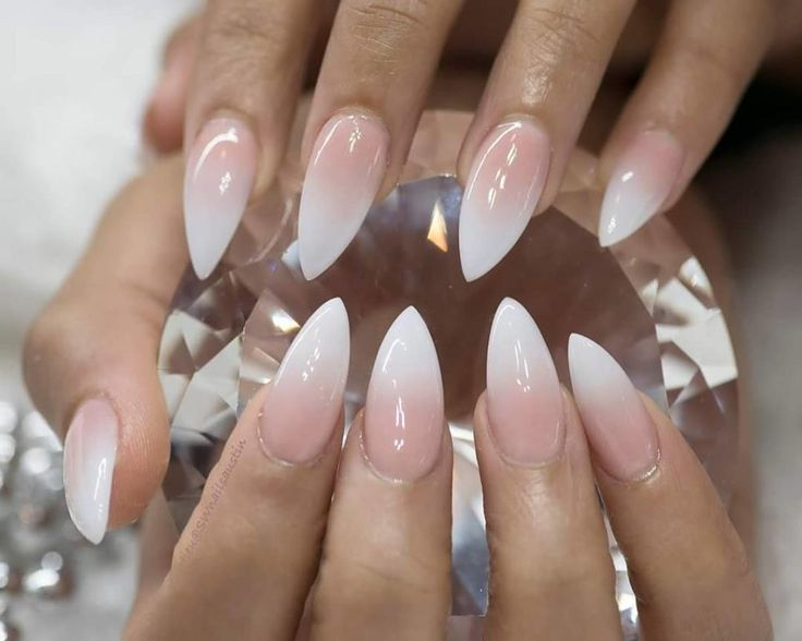 French manicure ombre nail art - The Best 12 Ombre Nail Art – French fades, unicorn and more