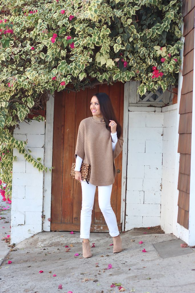 Love the beige and white look.  really need a beige or cream poncho
