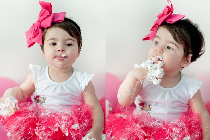 Sessão de fotos primeiro aniversario • krisieleoliveira.com • #babygirl #smashthecake #pink #umaninho #aniversario