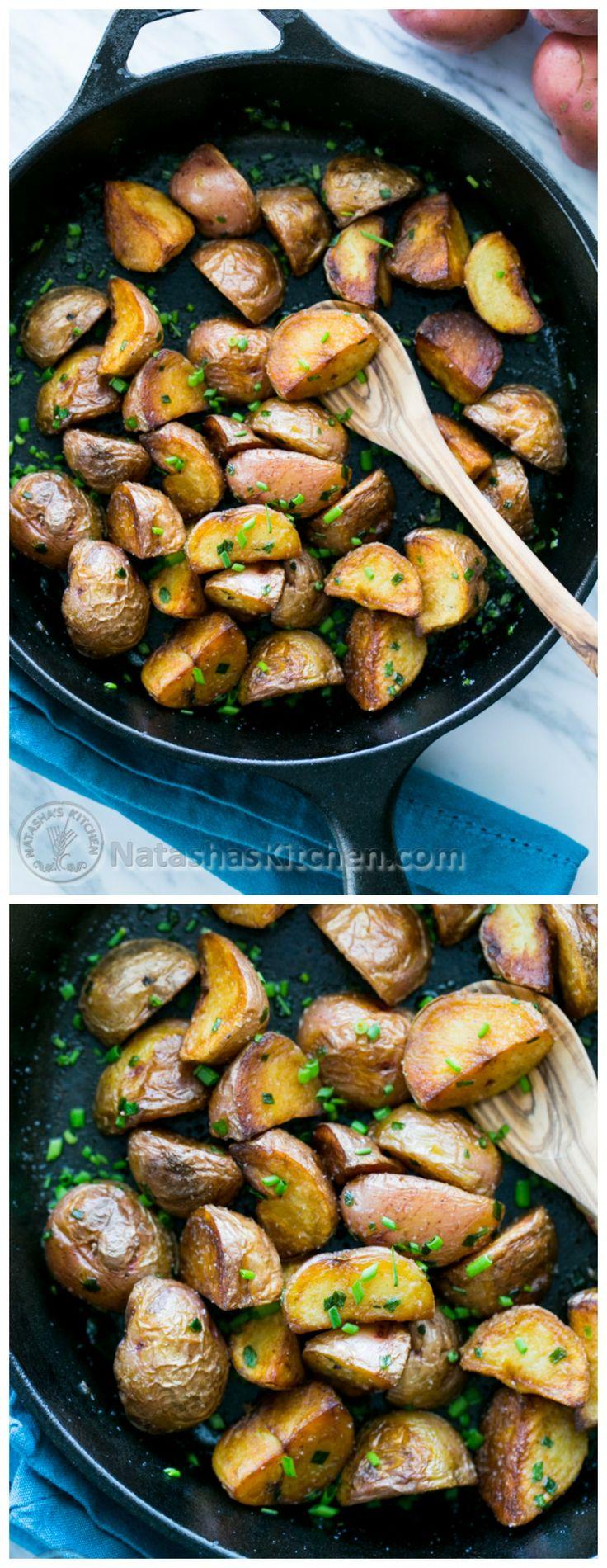 Simple and Crisp Sautéed Baby Red potatoes. @natashaskitchen