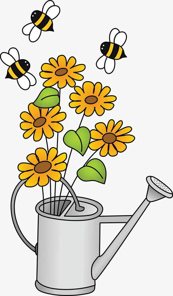 النحلة زهرة الكرتون المواد Doodle Pictures Cartoon Clip Art Cartoon Flowers